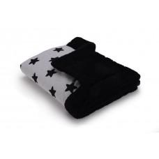 Теплый плед Cottonmoose KO 743/29/74 black star cotton jersey (светло-серый (черные звезды) с черным)