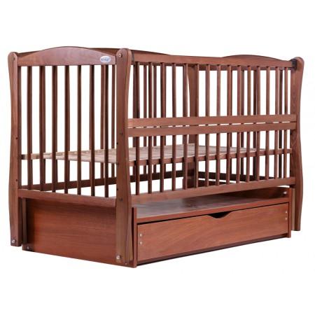Кровать Babyroom Еліт резьба маятник, ящик, откидной бок DER-7  бук тик