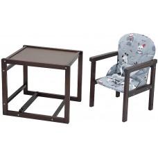 Стульчик- трансформер Babyroom Пони-220 тонированный пластиковая столешница  серый (собачки)