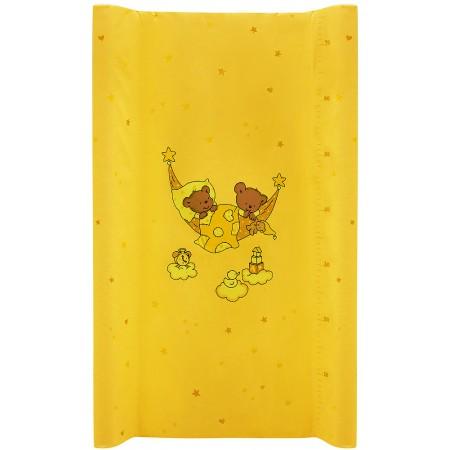 Пеленальный матрас Maltex мягкий 50х80 см  мишка в гамаке, желтый