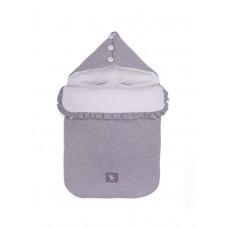 Универсальный конверт в коляску и автокресло Cottonmoose Pooh 330/49/51 melange cotton jersey white cotton jersey (серый меланж с белым)