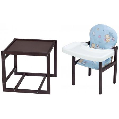 Стульчик- трансформер Babyroom Пони-220 тонированный пластиковая столешница  голубой (мишка, пчелка, звезда)