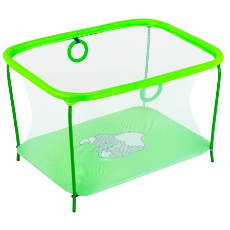 Манеж Qvatro LUX-02 мелкая сетка  зеленый (слон dumbo)