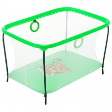 Манеж Qvatro LUX-02 мелкая сетка  зеленый (tiger)
