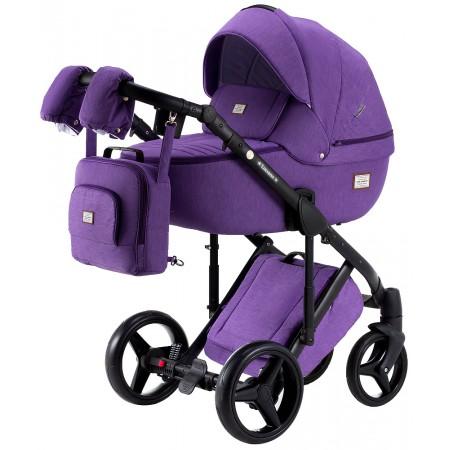 Коляска 2 в 1 Adamex Luciano Q12 фиолетовый