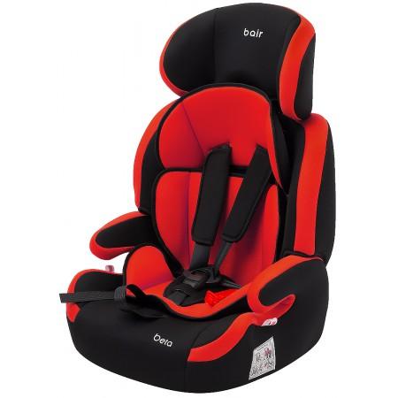 Автокресло Bair Beta 1/2/3 (9-36 кг) DB2426 черный - красный