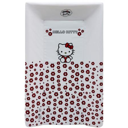 Пеленальная доска Maltex жесткий с изголовьем 50х80 см  hello kitty, белый