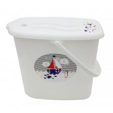 Ведерко для подгузников и воды Maltex Ocean & sea 5535  white