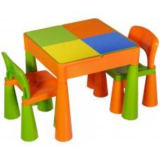 Стол и 2 стульчика Tega Mamut 899G orange-green