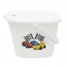 Ведерко для подгузников и воды Maltex Cars 5771  white