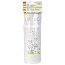 Термоконтейнер Ceba Baby Standard 63*63*225мм  св.серый (зебры)