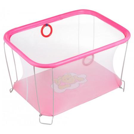 Манеж Qvatro Солнышко-02 мелкая сетка  розовый (winnie pooh)