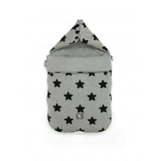 Универсальный конверт в коляску и автокресло Cottonmoose Pooh 330/29/49 black star cotton jersey melange cotton jersey (серый меланж (черные звезды))