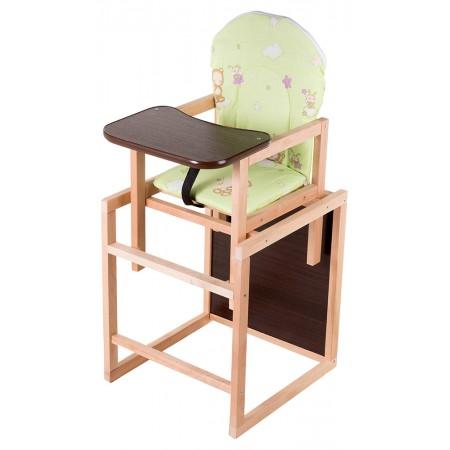 Стульчик- трансформер Babyroom Карапуз-110 лакированный МДФ столешница  салатовый (мишка, пчелка, звезда)