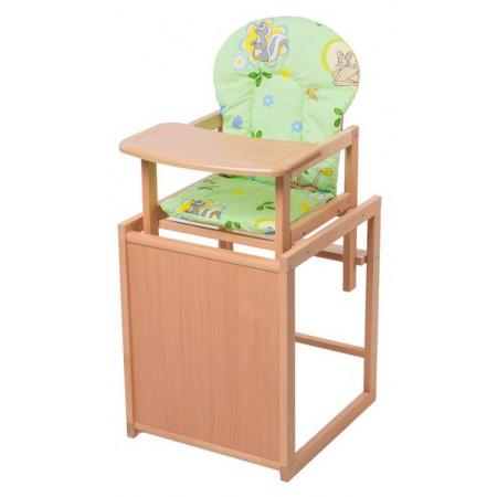 Стульчик- трансформер For Kids Бук-21 светлый мдф столешница  зеленый с рисунком