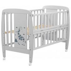 Кровать Babyroom Жирафик откидной бок, колеса DJO-01  бук серый