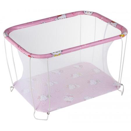Манеж Qvatro Classic-02 мелкая сетка  розовый (hello kitty)