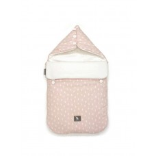 Универсальный конверт в коляску и автокресло Cottonmoose Pooh 330/132/51 rain pink cotton white cotton jersey (розовый (капли) с белым)