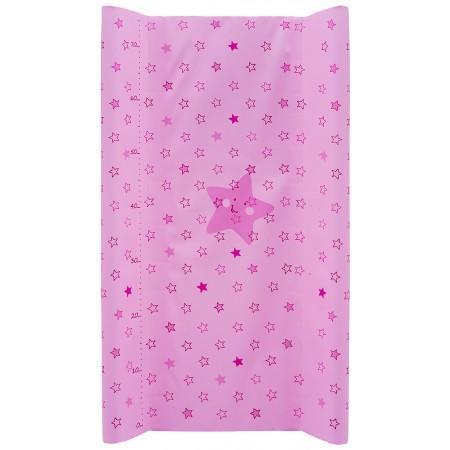 Пеленальный матрас Maltex мягкий 50х80 см  звезды, розовый
