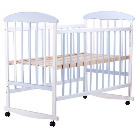 Кровать Наталка ОБГ  ольха бело-голубая