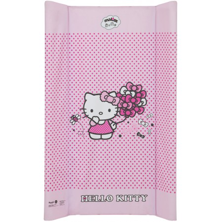 Пеленальный матрас Maltex мягкий 50х70 см  hello kitty, розовый