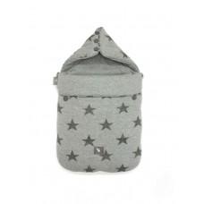 Универсальный конверт в коляску и автокресло Cottonmoose Pooh 330/28/49 серый меланж (звезды)