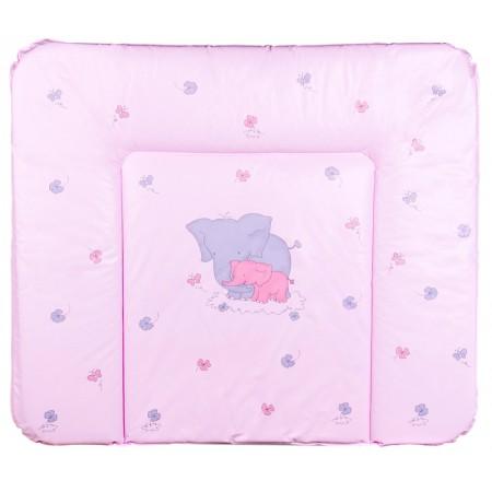 Пеленальный матрас Ceba Baby WD 85*70 multi  слоники розовый