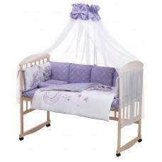 Детская постель Babyroom Bortiki Print-08  purple teddy
