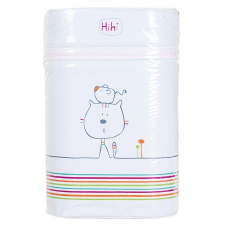 Термоконтейнер Ceba Baby Double 85*155*230мм*2шт бутылочки  светло-бирюзовый (кот, мышь)