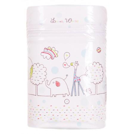 Термоконтейнер Ceba Baby Double 85*155*230мм*2шт бутылочки  белый (жираф, слон)