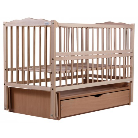 Кровать Babyroom Веселка маятник, ящик, откидной бок DVMYO-3  бук светлый (натуральный)