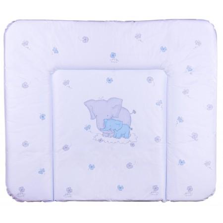 Пеленальный матрас Ceba Baby WD 85*70 multi  слоники голубой