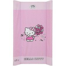 Пеленальный матрас Maltex мягкий 50х80 см  hello kitty, розовый