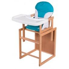 Стульчик- трансформер For Kids Бук-02 светлый пластиковая столешница  голубой