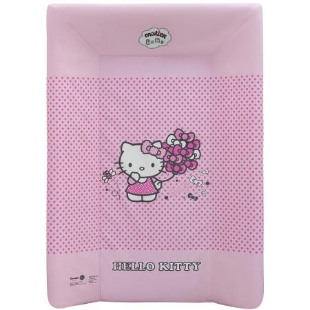 Пеленальная доска Maltex жесткий с изголовьем 50х70 см  hello kitty, розовый