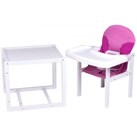 Стульчик- трансформер Babyroom Пони-240 белый пластиковая столешница  малина-розовый