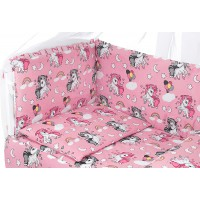 Детская постель Qvatro Gold RG-08 рисунок  розовая (единороги)