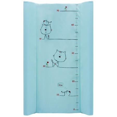 Пеленальный матрас Maltex мягкий 50х80 см  кот и мышка, бирюзовый