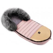 Зимний конверт Bair Polar premium  розовый (пудра) - золотая кожа
