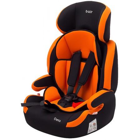 Автокресло Bair Beta 1/2/3 (9-36 кг) DB2421 черный - оранжевый