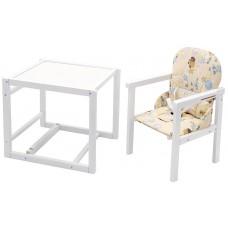 Стульчик- трансформер Babyroom Пони-240 белый пластиковая столешница  желтый (винни пух)
