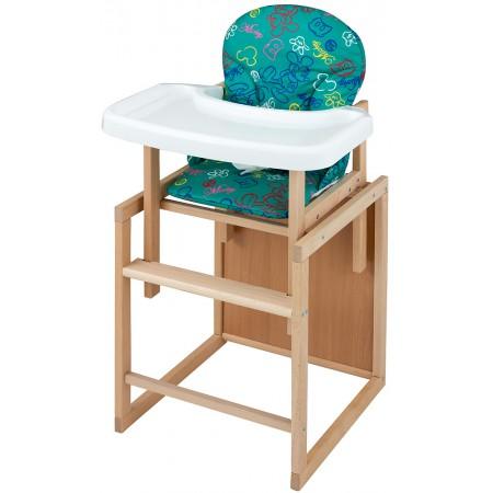 Стульчик- трансформер For Kids Бук-07 ЕСО пластиковая столешница (фигурная спинка)  зеленый (mickey mouse)