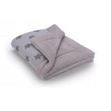 Теплый плед Cottonmoose KO 743/28/72 gray star cotton jersey (светло-серый (звезды))
