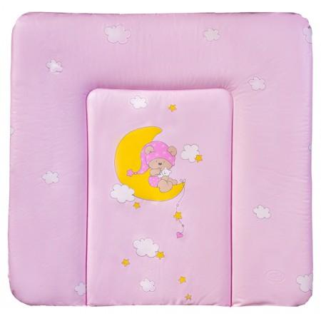 Пеленальный матрас Ceba Baby CE-102 medium  розовый (мишка на месяце)