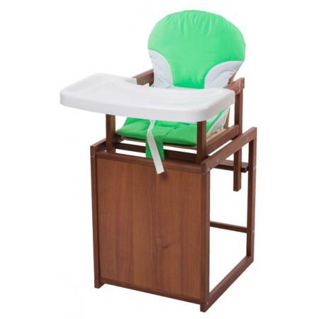 Стульчик- трансформер For Kids Бук-04 темный пластиковая столешница  зеленый
