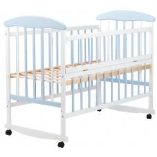 Кровать Наталка ОБГО откидной бок  ольха бело-голубая