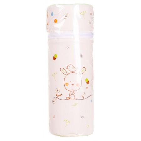 Термоконтейнер Ceba Baby Standard 63*63*225мм  беж-салатовый (зайчик, птичка)