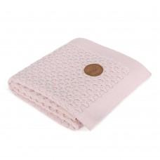 Вязанный плед Ceba Baby Wawes 90х90 см  розовый
