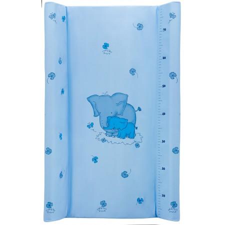 Пеленальный матрас Maltex мягкий 50х80 см  слоники, голубой