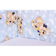 Защита в кроватку Qvatro Gold ZG-02  голубой (мишки спят)